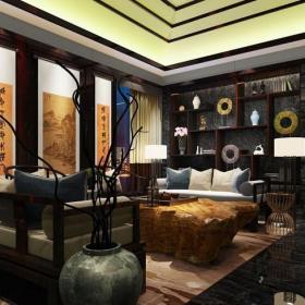 主題酒吧沙發工裝新中式主題酒吧時尚動感的酒吧設計效果圖大全
