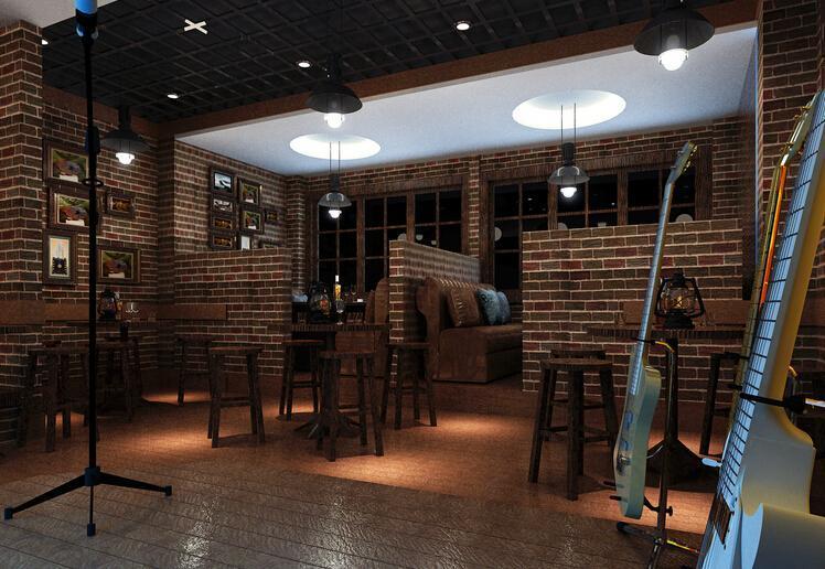 酒柜吧台沙发吧台椅主题酒吧吧台现代工装主题酒吧时尚动感的酒吧设计效果图大全