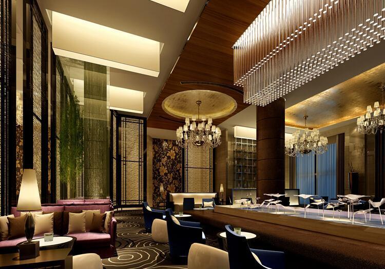主题酒吧沙发现代工装主题酒吧时尚动感的酒吧设计装修效果图