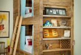 实木家具床创意生活用品90㎡极具个性的儿童房装修效果图