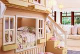 儿童家具儿童房北欧卧室家具儿童床田园小清新效果图大全