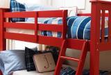 红色现代小户型儿童房亲密无间的儿童床上下铺效果图大全