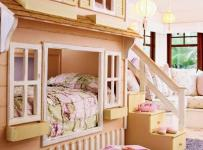 儿童房床?#35013;?#30340;,我把孩?#29992;?#32553;小了效果图欣赏