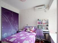 青山裝飾簡約風格二居室大氣富裕型兒童房飄窗衣柜定制效果圖