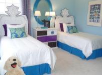 清新三居儿童房床110㎡为小王子准备的房间装修效果图