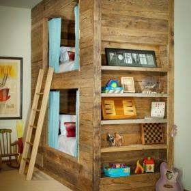 """实木家具二手房二居床创意生活用品送给孩子的""""木房子之儿童房装修效果图"""