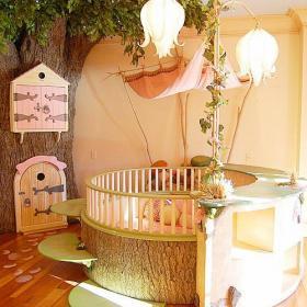 實木家具家飾床創意生活用品100㎡創意靈感之兒童房裝修效果圖
