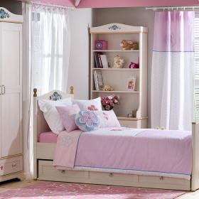 儿童房装修图片  粉色女生儿童房装修效果图