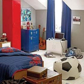 卧室卧室背景墙运动儿童房实景图效果图