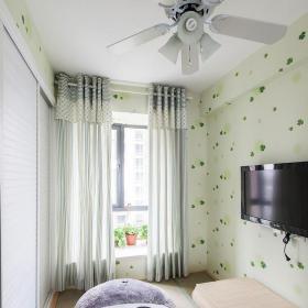 田園風格二居室兒童房窗簾裝修效果圖欣賞