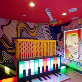 創意兒童房手繪墻設計效果圖
