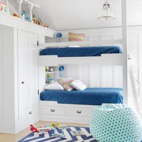 儿童房双胞胎的儿童房装饰效果图