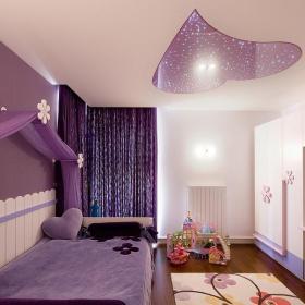 紫色兒童房間布置效果圖片效果圖