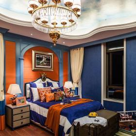 臥室家具床頭柜混搭地毯別墅兒童房整體裝修圖片效果圖大全