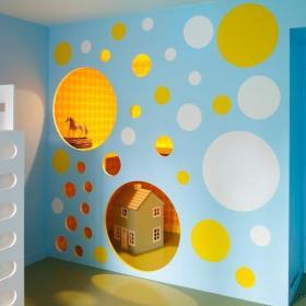 客厅背景墙儿童房里很3D的家装背景墙设计效果图