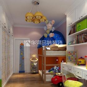 实木床上下床儿童床整体衣柜实木家具书桌衣柜混搭风格儿童房装修效果图