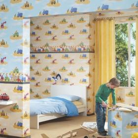 儿童房装修效果图  儿童房背景墙效果图