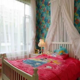 台灯儿童床卧室家具卧室壁纸儿童房窗帘简约风格儿童卧室墙面壁纸装修图片简约风格儿童房图片效果图大全