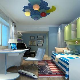 地中海風格二居室兒童房床頭柜裝修圖片效果圖欣賞