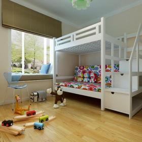 子母床上下床高低床雙層床113平米簡約風格兒童房裝修效果圖