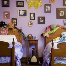 混搭風格公寓經濟型80平米兒童房床海外家居效果圖