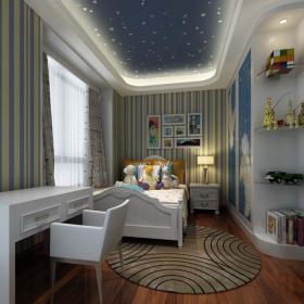 混搭風格四居室兒童房窗簾裝修效果圖