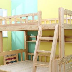 家居儿童房实木高低床效果图