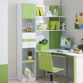 电脑椅书柜儿童书柜清新风格儿童房装修图片清新风格儿童书桌图片装修效果图