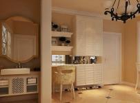 混搭风格二居室衣帽间屏风储物柜装修图片效果图大全