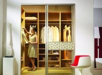 原木色91-120平米二居室宜家风格推拉门衣帽间装修效果图设计