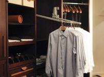 中式100㎡家居收纳衣帽间整洁的收纳柜效果图
