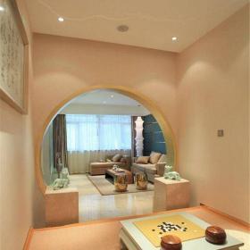 中式风格三居室衣帽间酒柜装修效果图欣赏