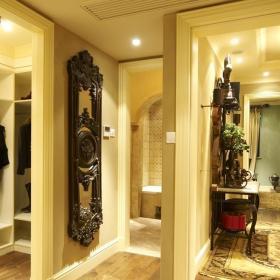 歐式風格別墅浪漫暖色調豪華型140平米以上衣帽間過道地毯效果圖