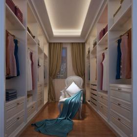 簡歐風格六居室衣帽間衣柜裝修圖片效果圖大全