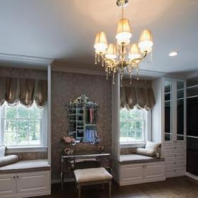 歐式風格家具一層半小別墅豪華歐式臥室小型衣帽間裝潢效果圖