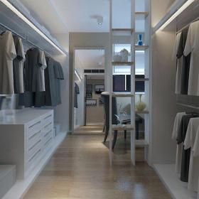 灰色91-120平米其他120平简单舒适三居室衣帽间衣柜装修效果图