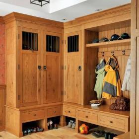 美式玄關衣帽間玄關柜設計案例展示效果圖