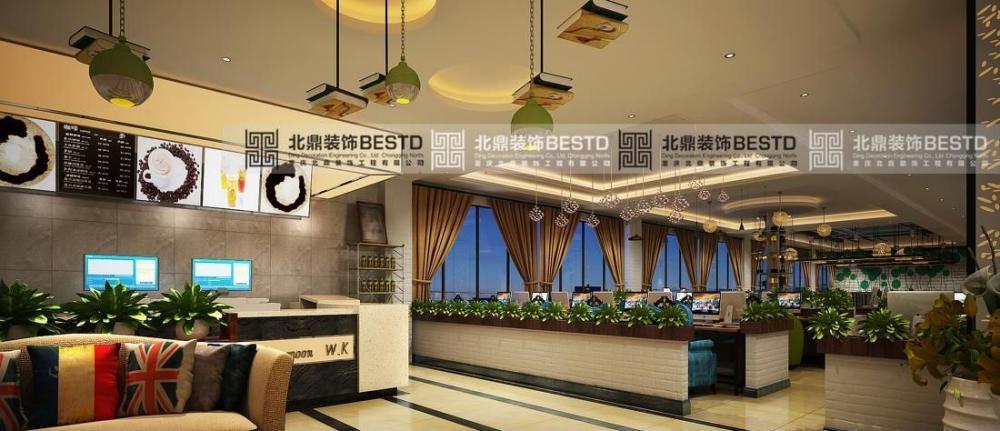 重庆开县大气豪华网吧网咖装修设计重庆北鼎装饰效果图
