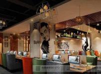 太原临汾主题LOFT网吧网咖装修设计重庆北鼎装饰效果图