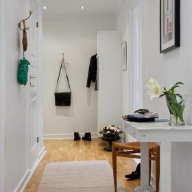 白色80㎡家居收納北歐簡潔且實用過道玄關設計效果圖