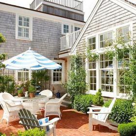 120㎡入戶花園北歐別墅外面的陽光花園裝修效果圖