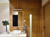 十上宜家风格公寓原木色富裕型洗手台效果图