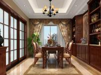 歐式古典四居室餐廳燈具裝修圖片效果圖大全
