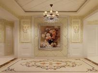 歐式古典風格大戶型玄關裝修效果圖,歐式吊頂圖片