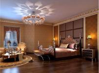 歐式別墅床頭背景墻頭柜背景墻吊頂歐式古典床頭柜大戶型歐式古典風格臥室背景墻裝修效果圖歐式古典風格床尾