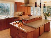 原木色91-120平米三居室宜家原木风格厨房装修效果图
