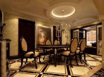 欧式古典四居室餐厅吊顶装修图片效果图大全