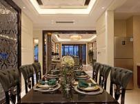 130㎡大戶型歐式古典風格餐廳背景墻裝修效果圖歐式古典風格餐椅圖片