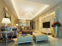 欧式古典风格四居室客厅电视背景墙装修效果图欧式古典风格客厅吊顶图片