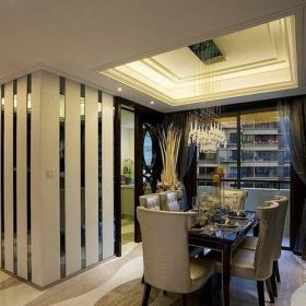 歐式古典風格三居室餐廳背景墻裝修圖片效果圖大全